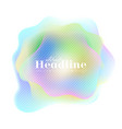 holographic 80s 90s abstract colorful retro vector image