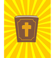 Holy Bible Big and old book with cross New vector image vector image