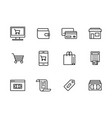 icon set internet and mobile shopping vector image vector image