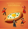isometric georgia national cuisine with khachapuri vector image vector image