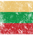 Lithuania retro flag vector image vector image