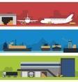 Logistics infographic banner set Flat vector image vector image