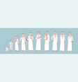 man muslims life stages set concept vector image