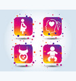 maternity icons baby infant pregnancy dummy vector image