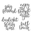 modern calligraphy ink of word daylight vector image vector image