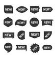new tag set vector image vector image