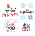 New Year calligraphic lettering set design vector image