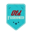 Old fashioned blue pennant label vintage style vector image vector image