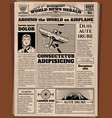 old newspaper vintage newsprint template vector image