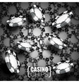 on a casino theme with playing chips vector image vector image