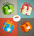 Paper Retro 3d Gift Boxes Set vector image vector image