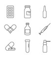 pills and injection vector image