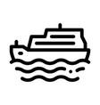 pleasure boat icon outline vector image vector image