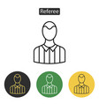 referee avatar multicoloured icons vector image