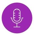 Retro microphone line icon vector image