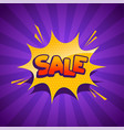 sale banner in comic style vector image vector image
