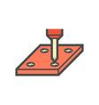 screw tools icon vector image