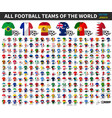 set all national football or soccer team vector image