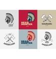 set american indian badges vector image