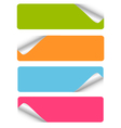 set blank stickers vector image vector image