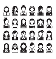 set flat people icons vector image
