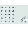 Set of virtual reality icons vector image