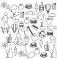 sketch contour set elements daily life icon vector image vector image