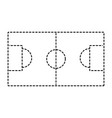 soccer field goal sport top view vector image