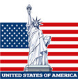 statue liberty nyc usa symbol vector image vector image