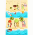 summer holiday posters set vector image vector image