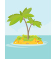 summer vacation holiday tropical ocean islands vector image vector image