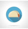 Tacos lunch flat color design icon vector image