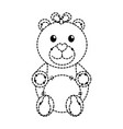 teddy bear design vector image vector image
