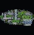 the need to honor community heroes still strong vector image vector image