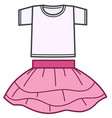 tshirt and skirt for girls children fashionable vector image vector image