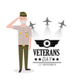 veterans day to policeman celebration and vector image vector image