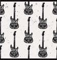 vintage seamless pattern with guitar diamond vector image vector image