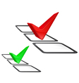 voting two color red green vector image vector image