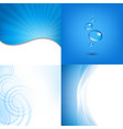water wallpaper vector image vector image