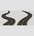 winding curved road with markings vector image vector image