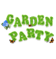garden party vector image