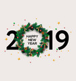 2019 happy new year or christmas background vector image vector image
