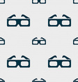 3d glasses icon sign Seamless pattern with vector image