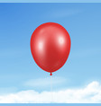 3d realistic glossy metallic red balloon vector image