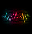 abstract background with colorful waveform vector image vector image