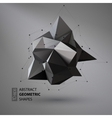 Abstract geometric shape triangular Crystal vector image vector image