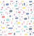 abstract hand drawn brush pattern pastels color vector image vector image