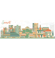 Abstract Surat Skyline with Color Buildings vector image vector image