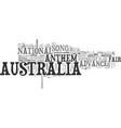 advance australia fair text word cloud concept vector image vector image