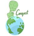 alien conquest vector image vector image